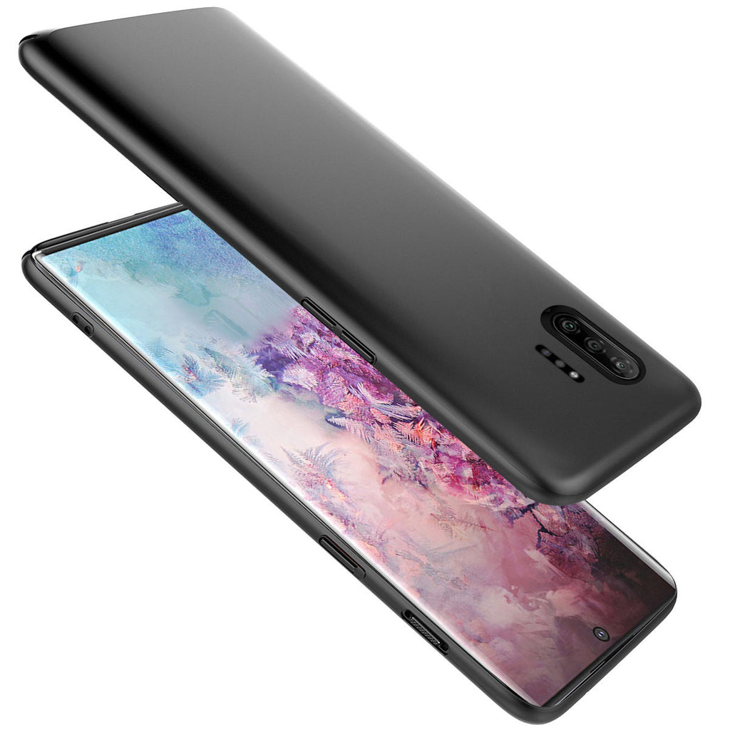 Case for Galaxy Note 10 Plus 5G TPU Bumper Shockproof Full Wrapped Phone Cover Black