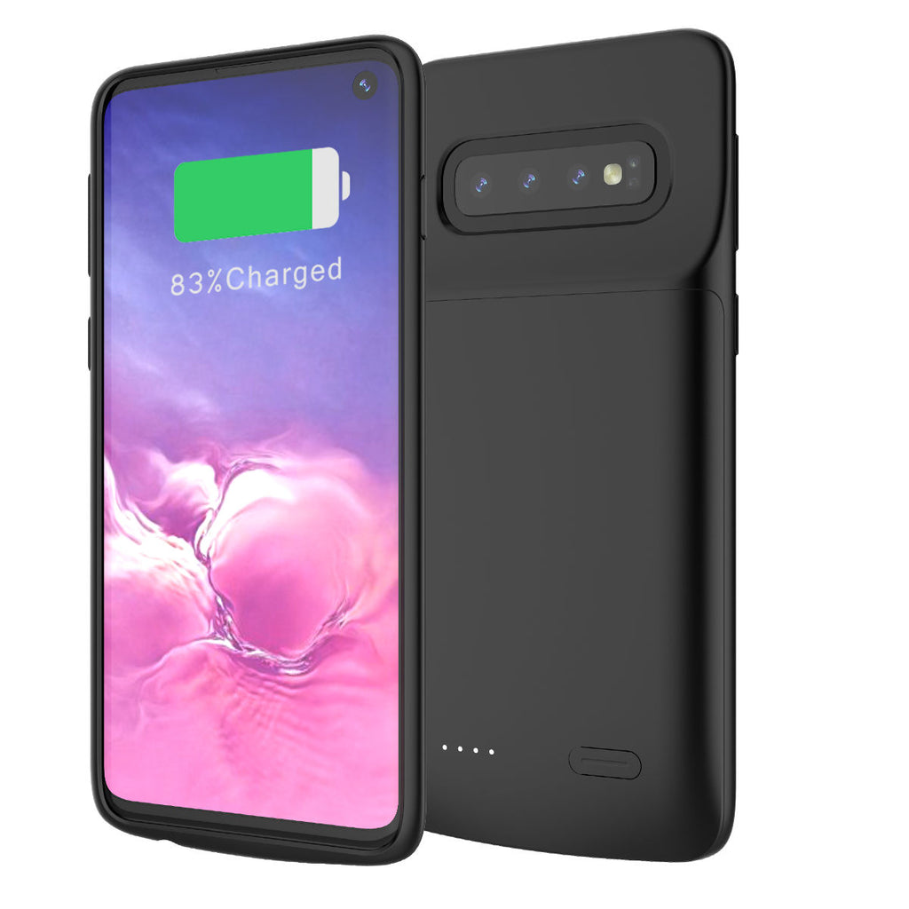 S10 Battery Phone Case Samsung Galaxy Rechargeable Extended Pack 5000mAh Black