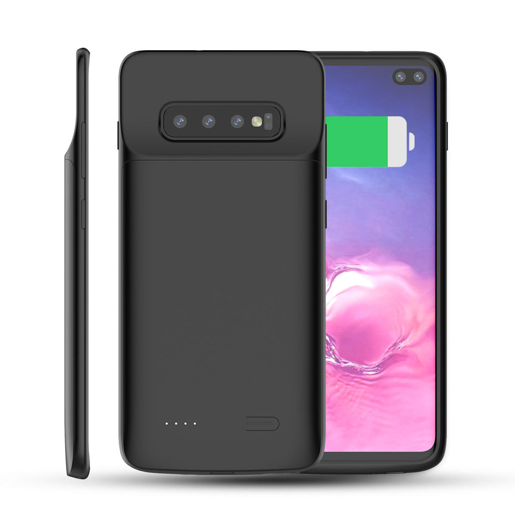 Galaxy S10 Plus Battery Case 5500mAh Rechargeable Extended Quick Charger Black