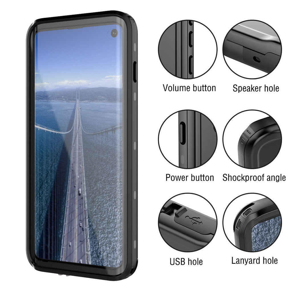 Galaxy S10 Plus Waterproof Case IP68 Certificate Built-in Screen Black