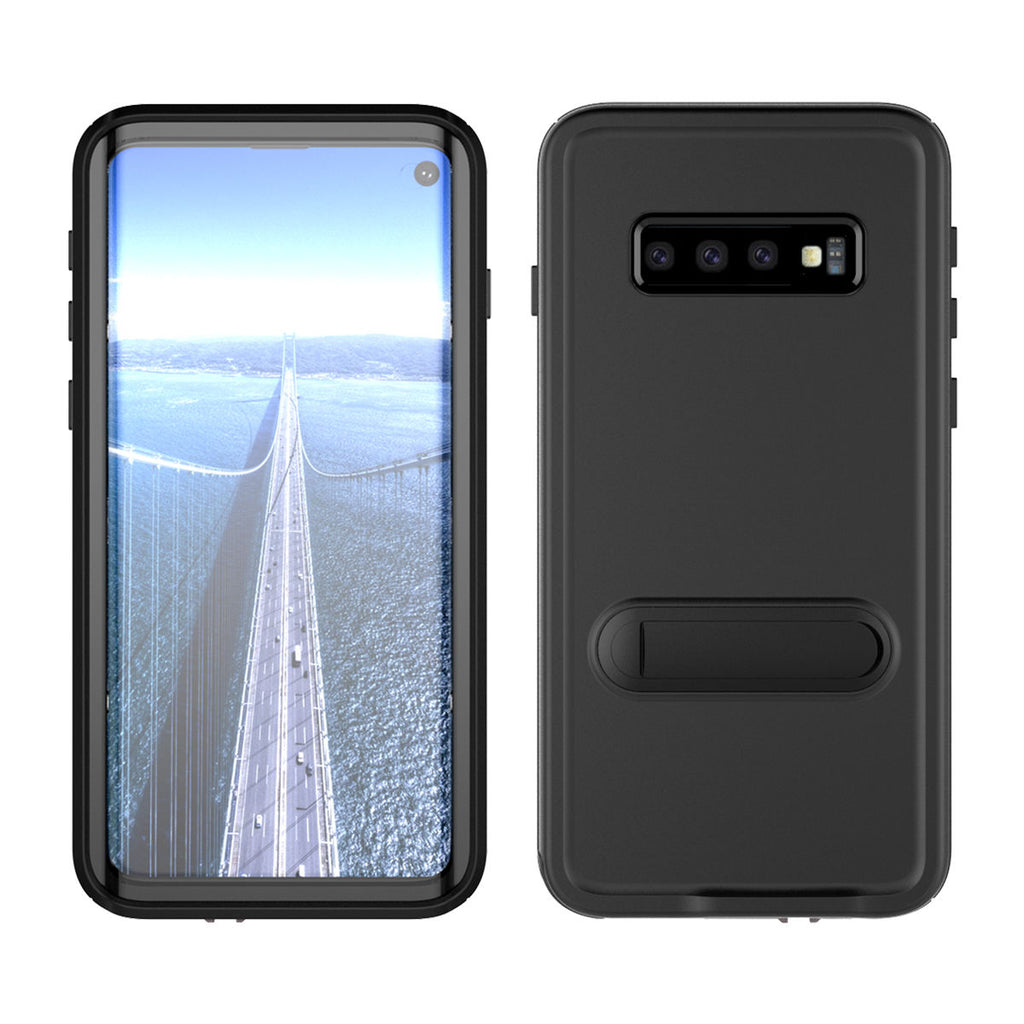 Sumang Galaxy S10 Waterproof Case IP68 Certified Dropproof Case Built-in Screen Black