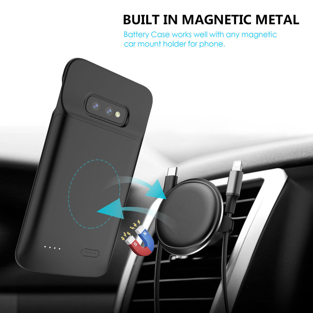 Galaxy S10e Battery Charging Case 4700mAh Rechargeable Slim Protective Backpack Black