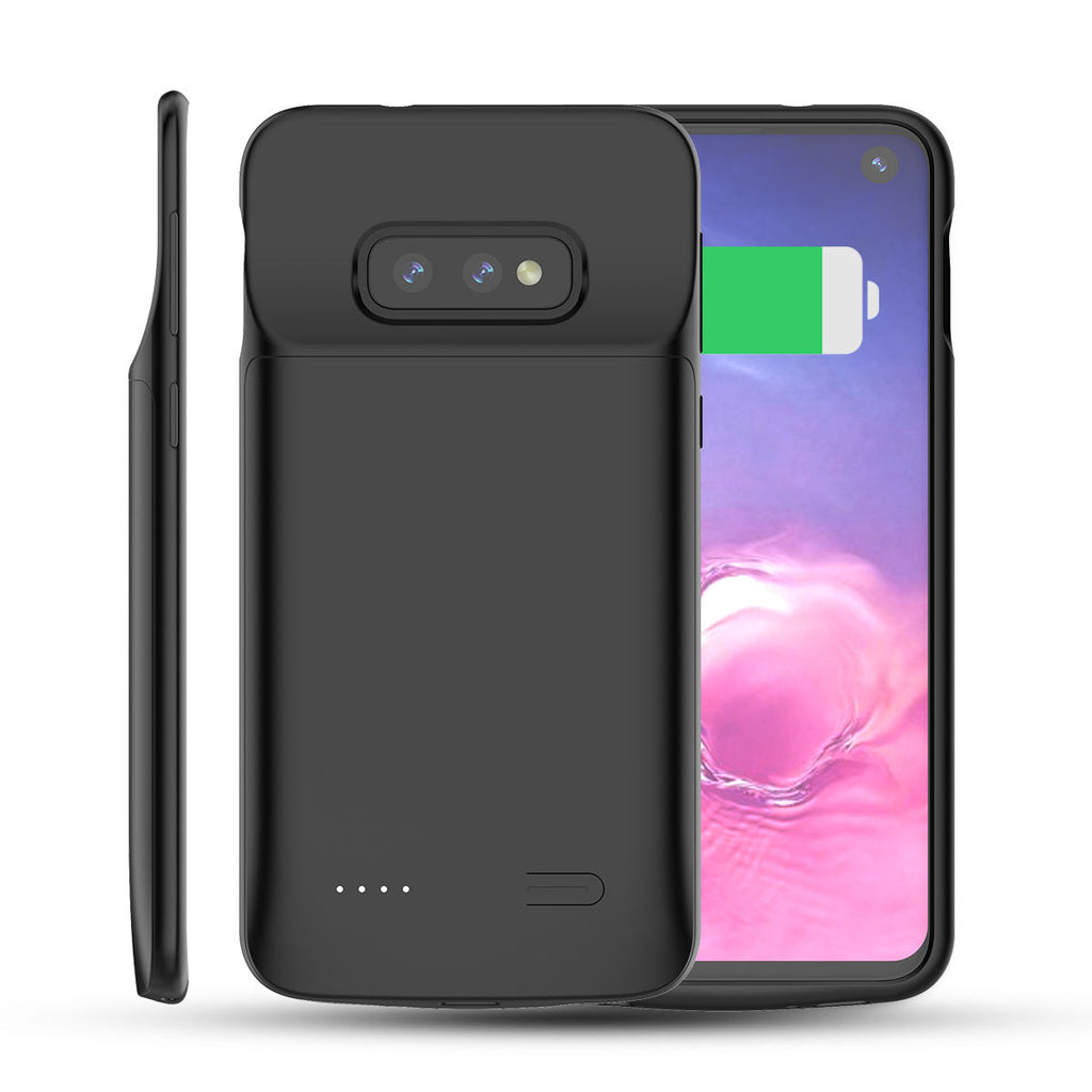 Galaxy S10e Battery Charging Case 4700mAh Rechargeable Ultra-Slim Protective Backpack Black
