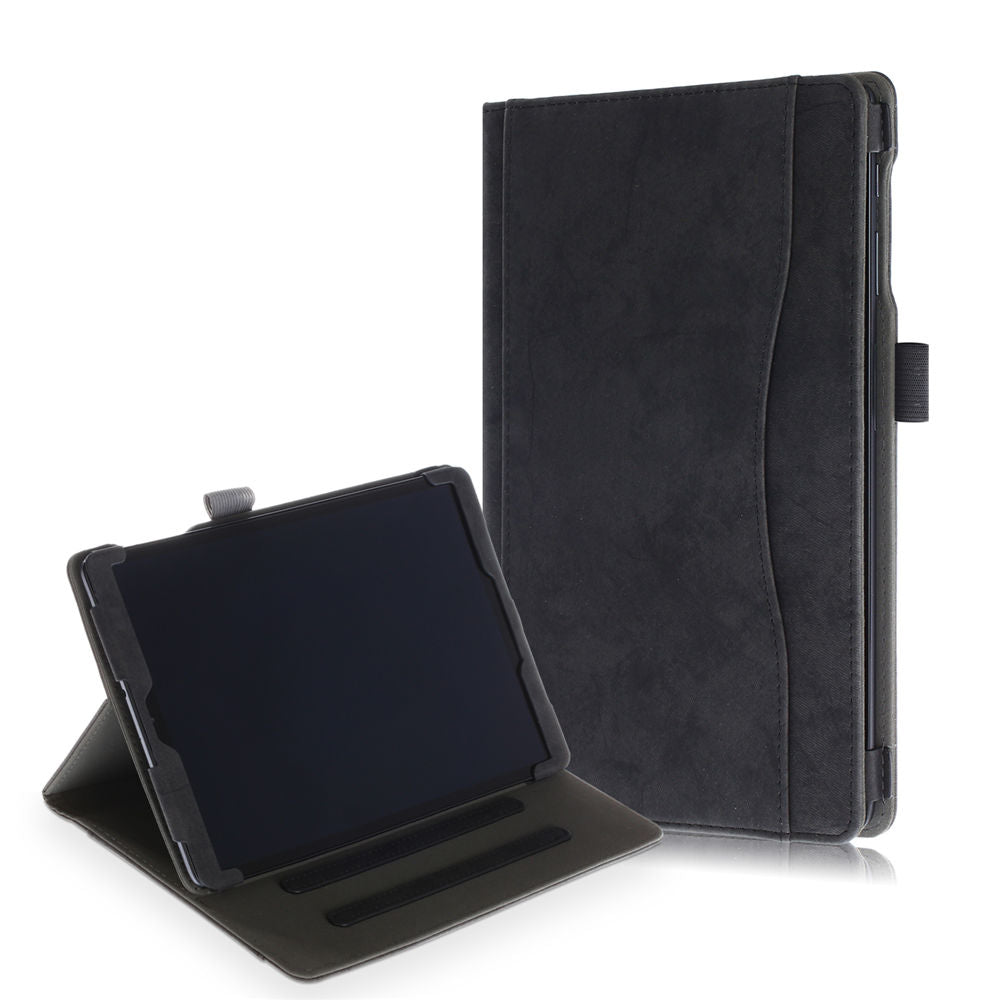 Galaxy Tab A 10.1 2019 SM-T510/T515 Leather Case Stand Folio Cover with Card Slot Black
