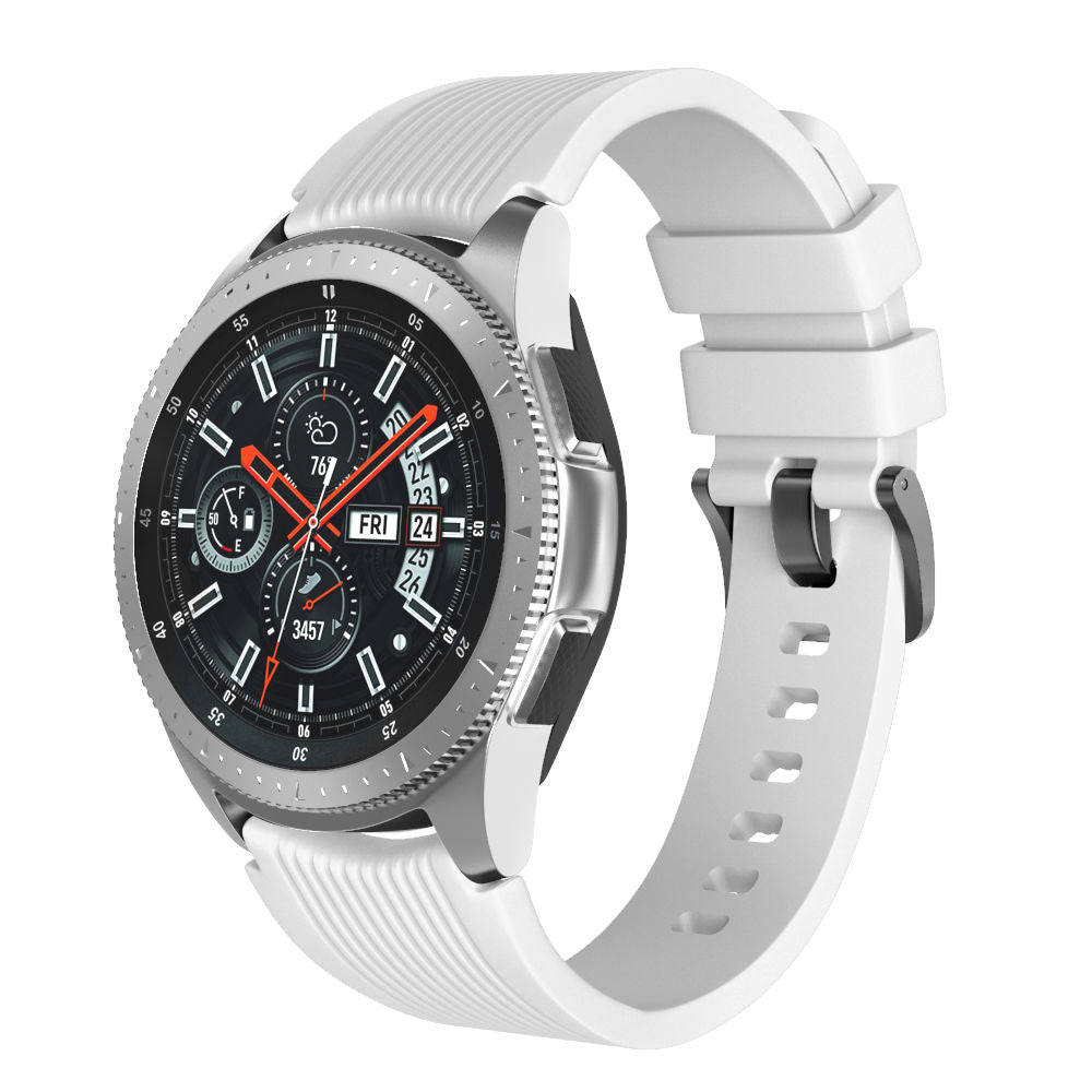 Samsung Galaxy Watch (46mm) Band Silicone Watch Belt Replacement Strip White Small