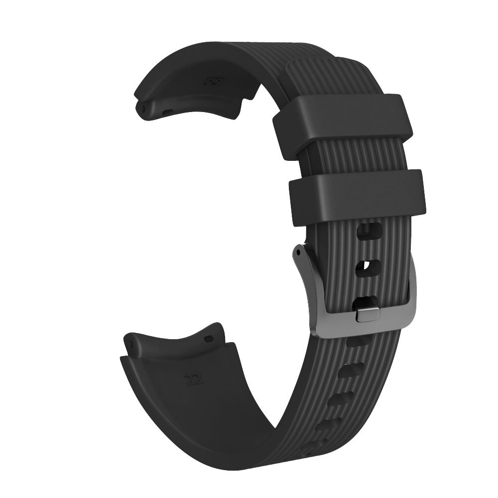 Galaxy Watch Band 46mm Silicone Strap Replacement Samsung Wristband Large Black