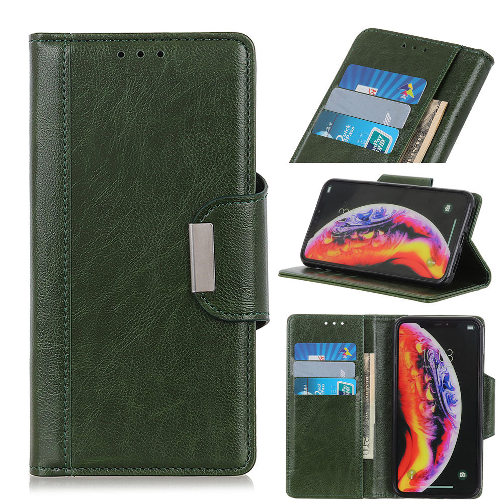 Google Pixel 3 Lite XL Wallet Case Protective Flip Cover with Credit Card Slots Green