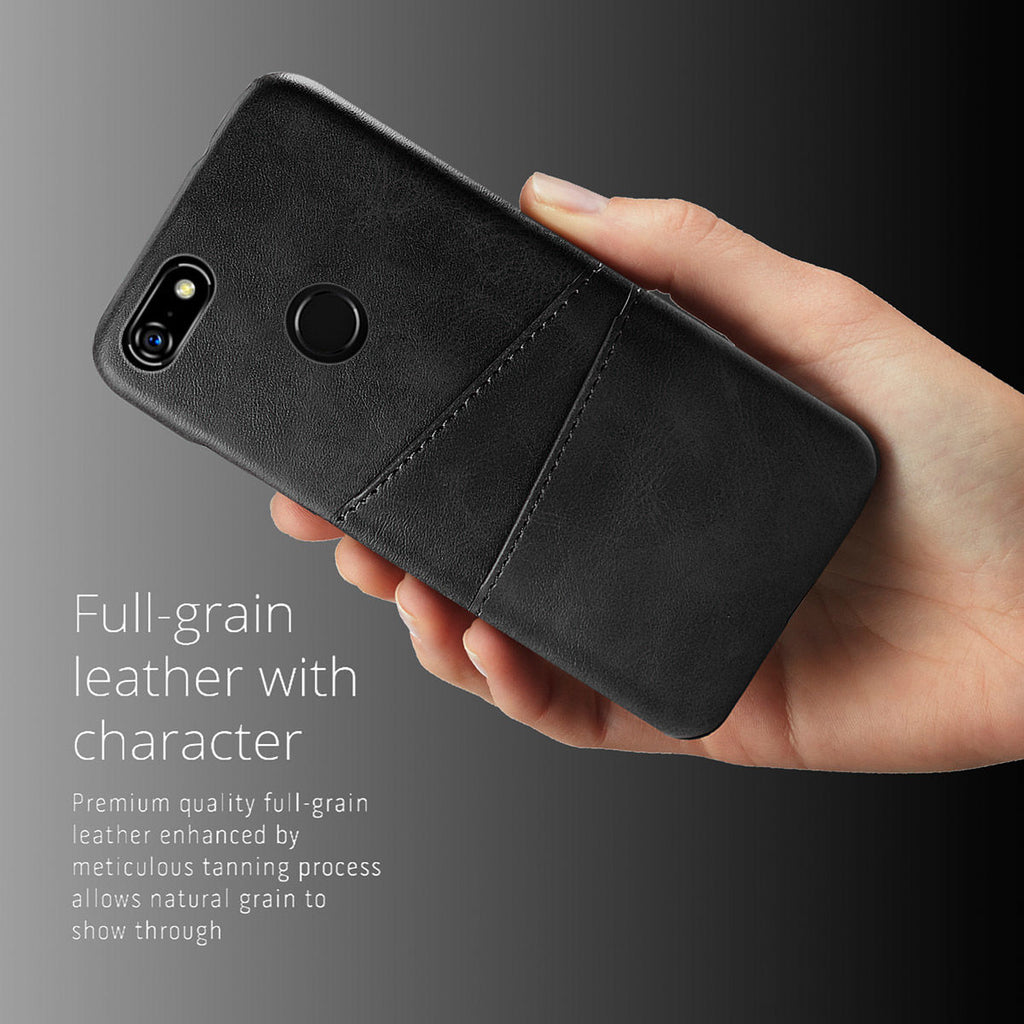 Google Pixel 3a XL Case Shockproof Hard Phone Cover with Card Slots Black
