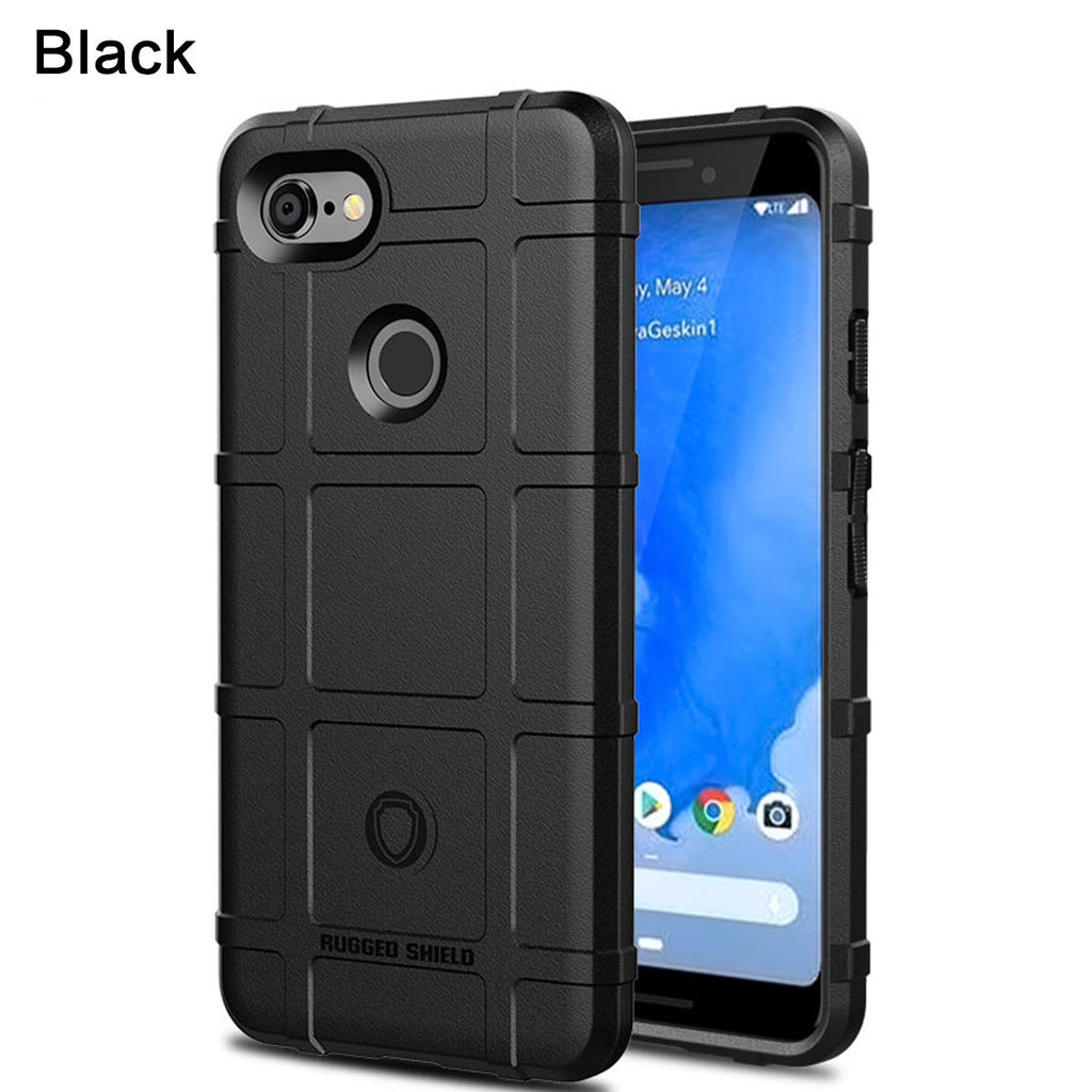 Google Pixel 3a XL Case Soft TPU Bumper Phone Cover Shock Absorption Black