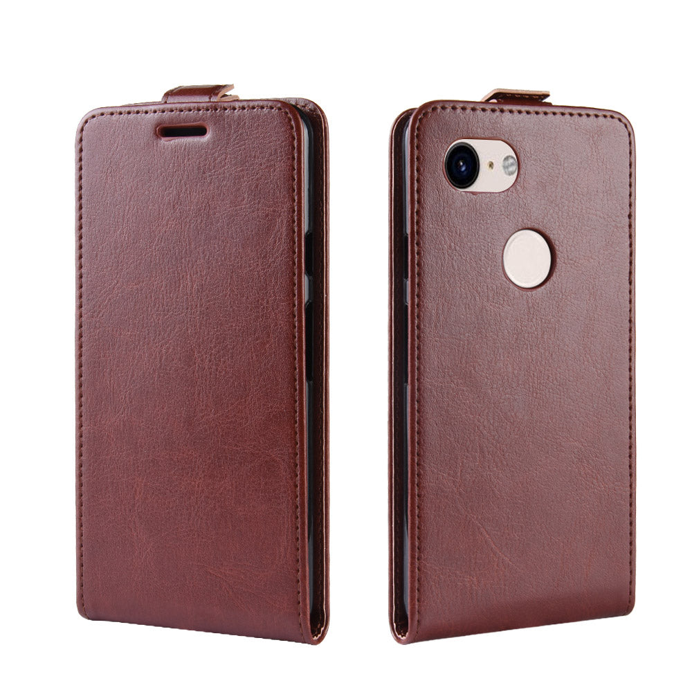 Google Pixel 3a XL Wallet Case Flip Stand Cover with Card Slots Brown