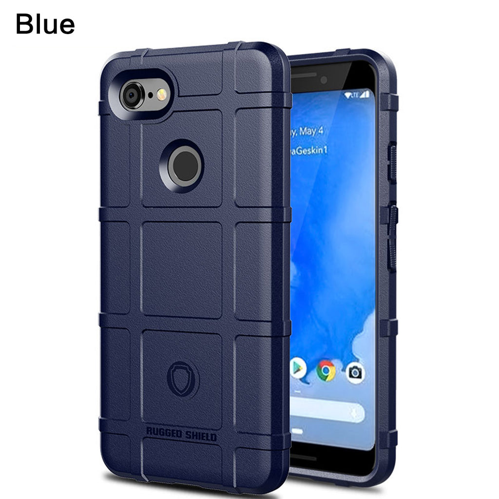 Google Pixel 3a XL Case Slim TPU Bumper Soft Cover Blue