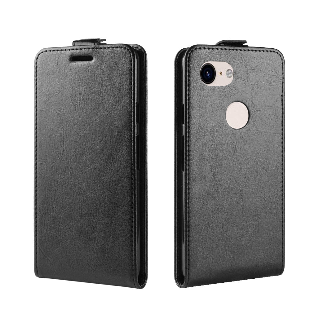 Google Pixel 3a XL Leather Case Shockproof Flip Wallet with Card Slots Black