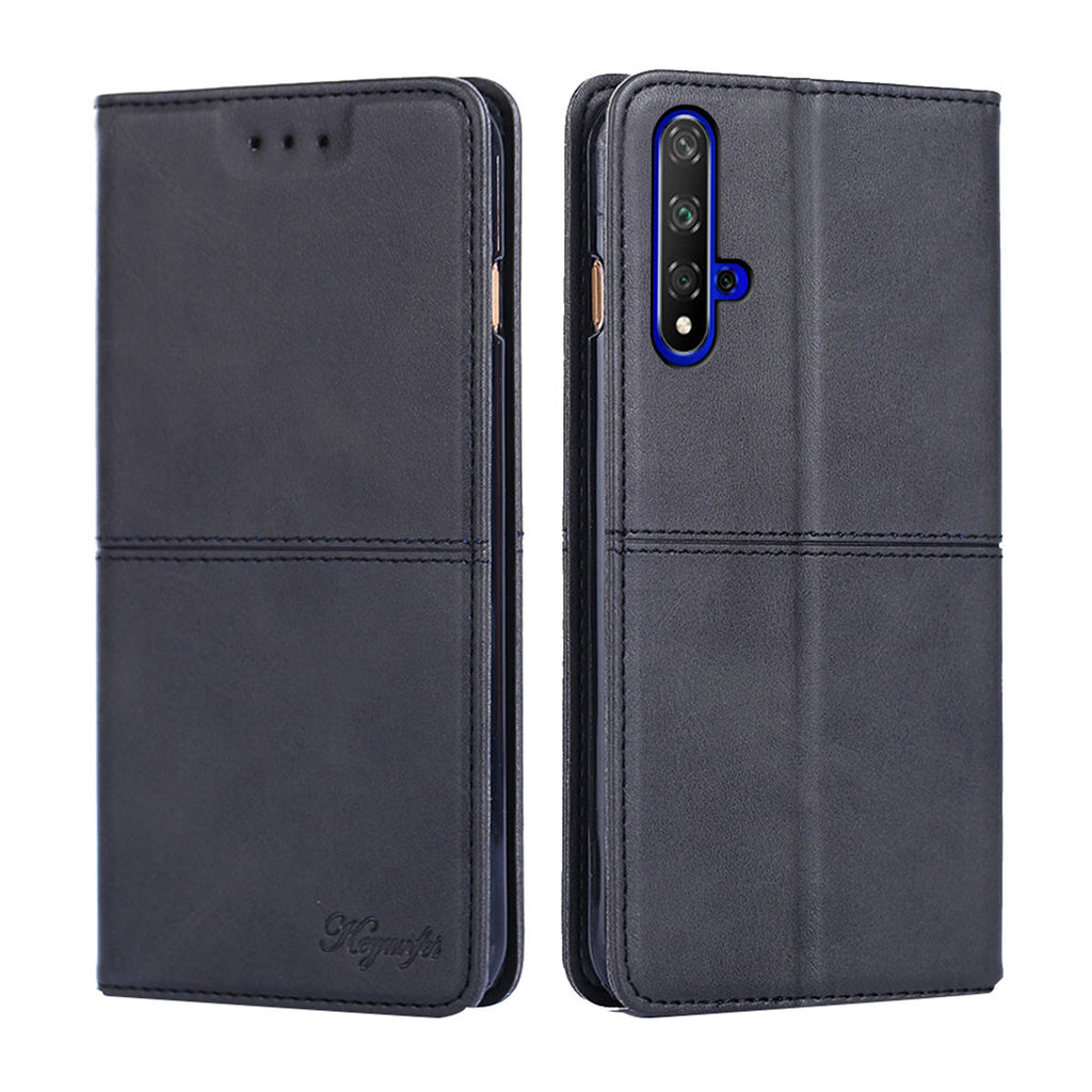 Huawei Honor 20 wallet case with card slots PU leather folio phone cover black