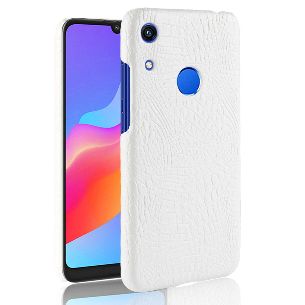 Huawei Honor 8A Pro Case PC + PU Crocodile Pattern Shockproof Back Case White