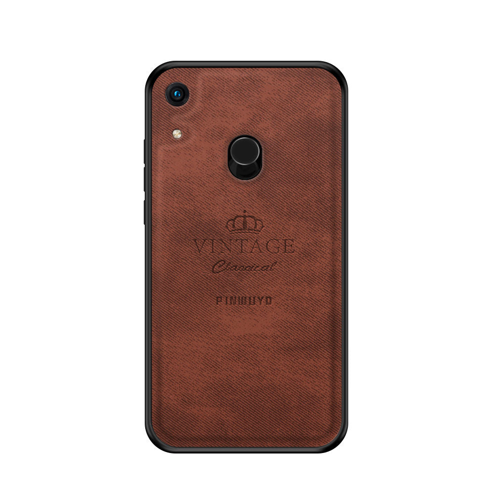 Huawei Honor 8A Pro Case Hybrid Bumper Shockproof Hard Case Brown