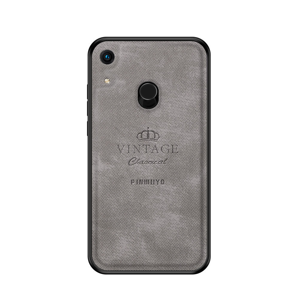 Huawei Honor 8A Pro Case PC & PU Hybrid Bumper Back Cover Grey