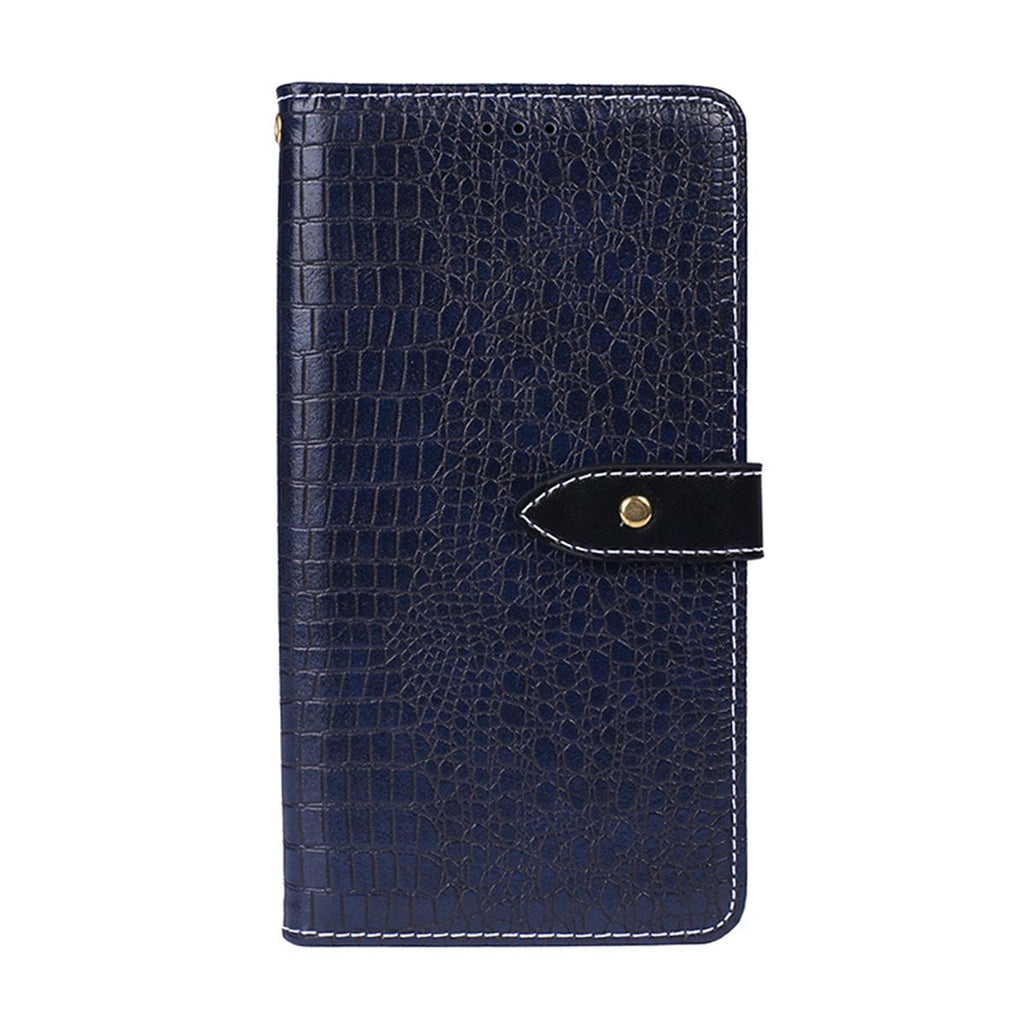 Huawei Honor 8A Pro PU Leather Flip Stand Cover With Card Slot Dark Blue