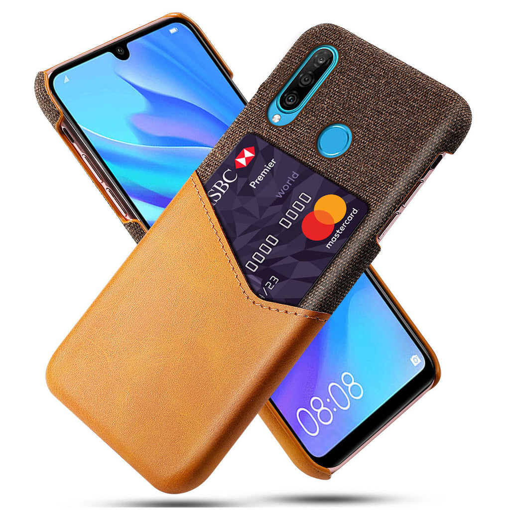 Huawei Nova 4e Splicing Ultra Thin Case Rugged Cover Card Slot Orange