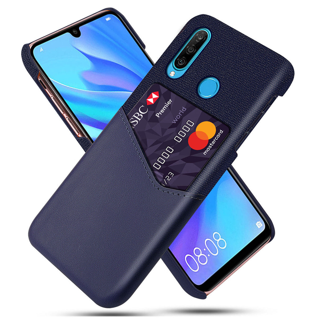 Slim Fit Huawei Nova 4e Hard Case Splicing Shockproof Back Cover Dark Blue