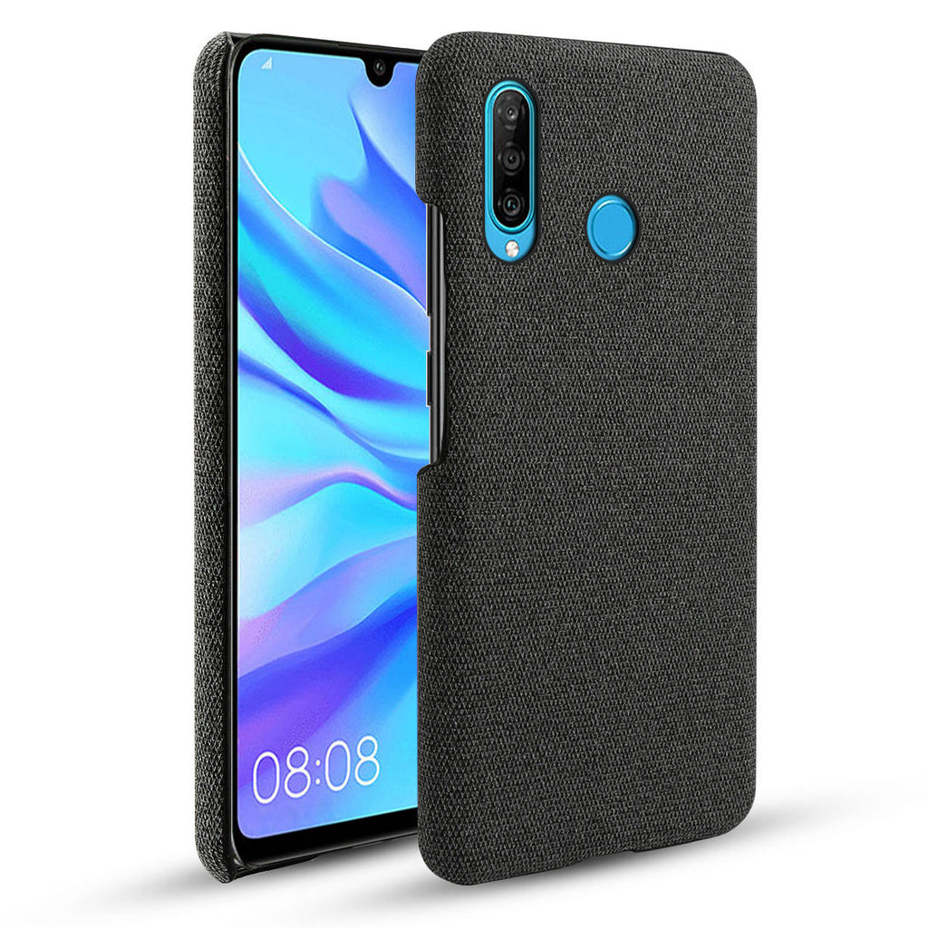 Huawei Nova 4E Anti-Scratch Fully-Protective Slim PC Fabric Case Black