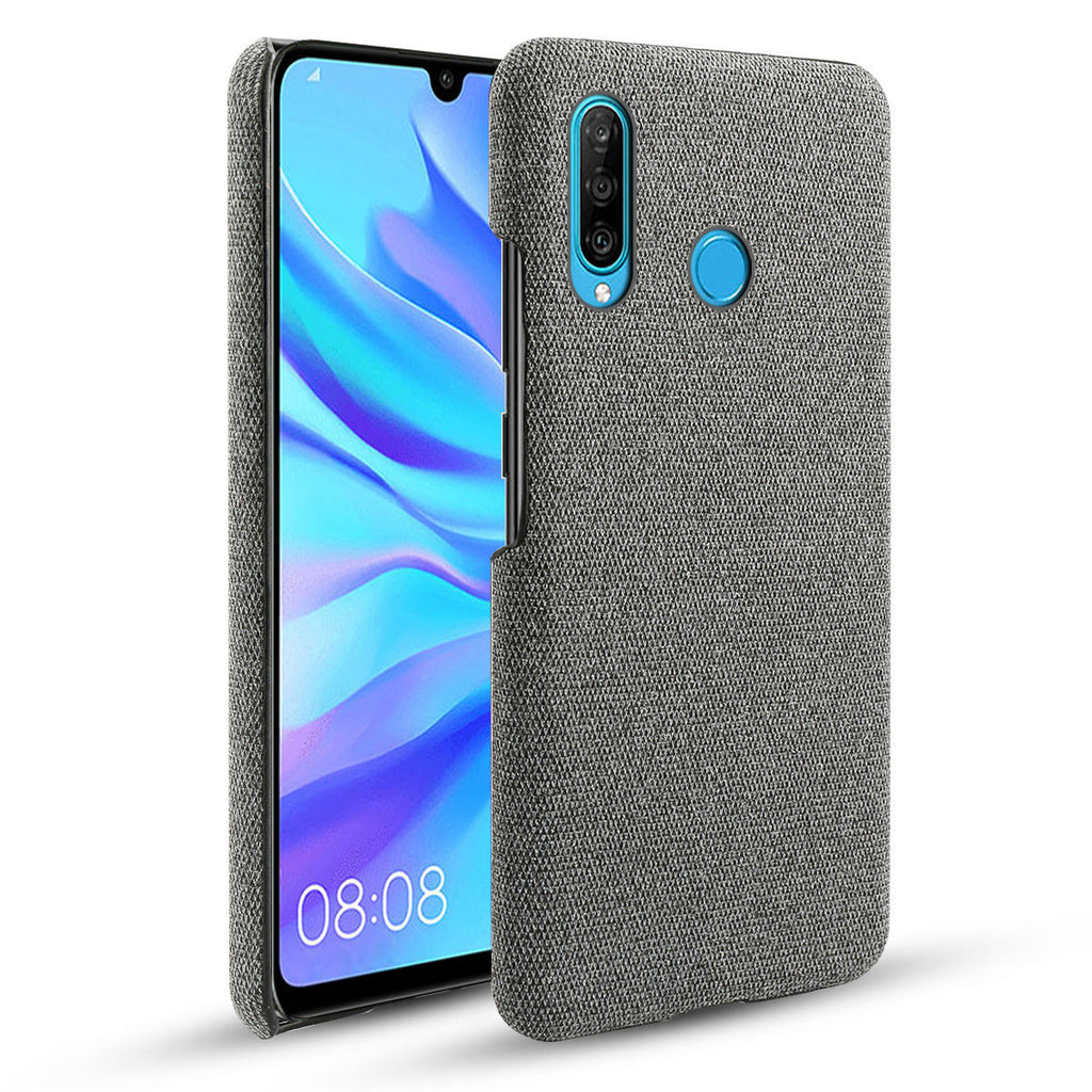 Huawei Nova 4E Anti-Scratch Shock-Absorbing Fabric Case for Business Men Grey