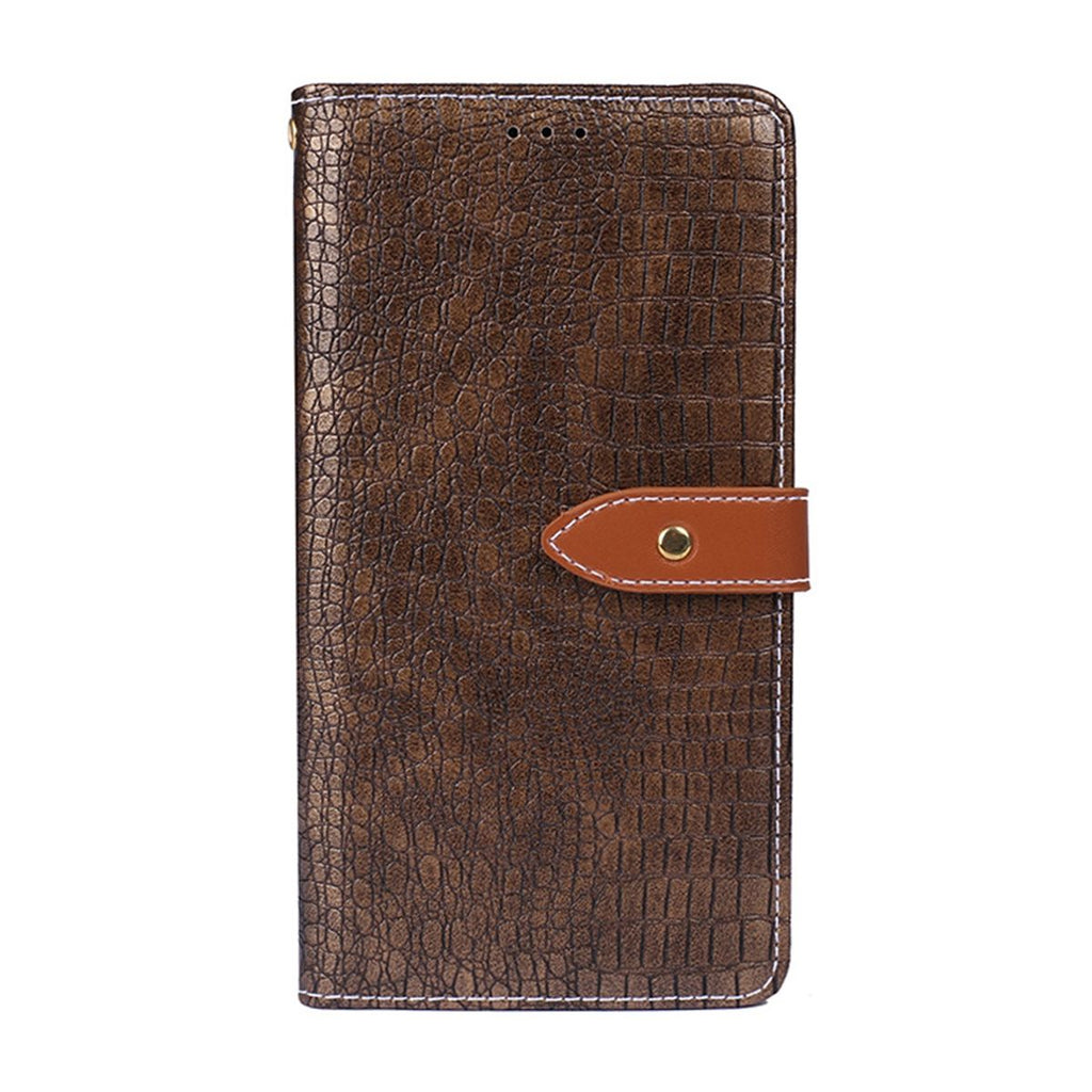 Huawei Nova 4e Wallet Case Magnetic Closure Folio Flip Stand Dark Golden