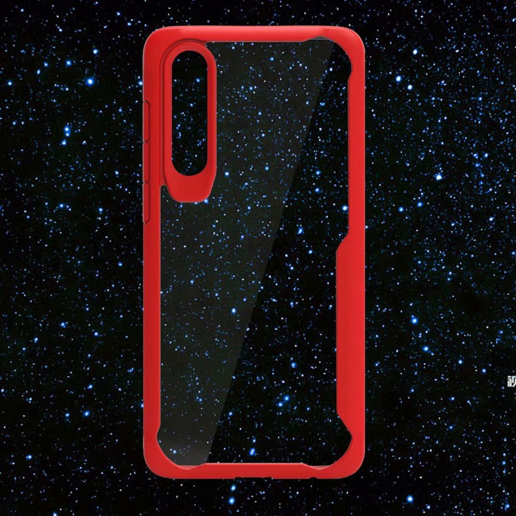 Huawei P30 Pro Crystal Clear Case Soft TPU Drop-proof Rugged Cover Red