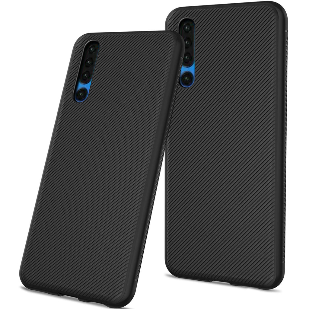 Huawei P30 Case Back Cover Soft TPU Scratch Resistant Protective Shell Anti-slip Phone Cover Black