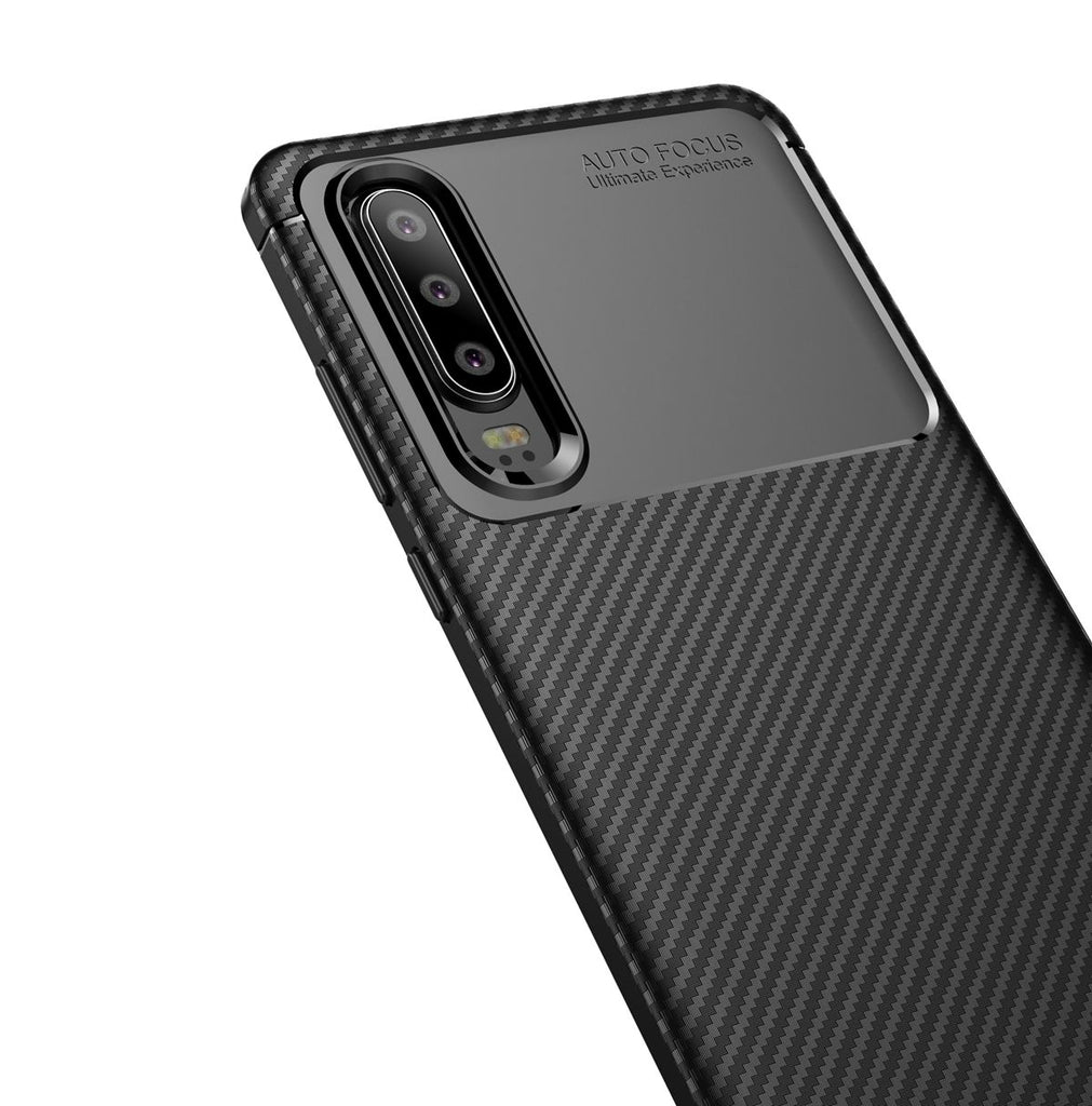 Huawei P30 Protective Case Soft TPU Bumper Shock Absorption Cover Black