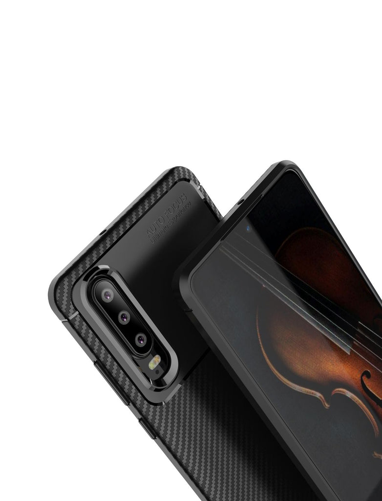 Huawei P30 Protective Case Soft TPU Bumper Shock Absorption Back Cover Black