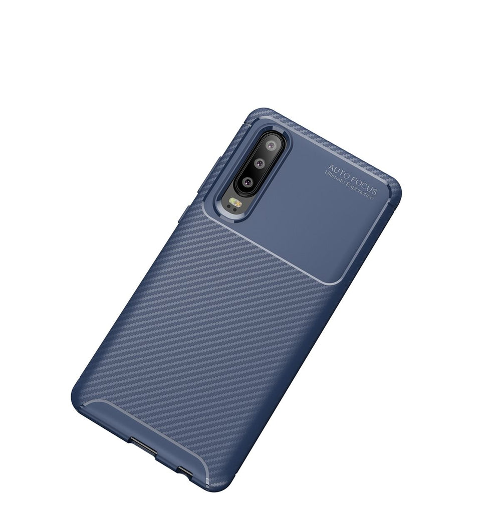 Huawei P30 Soft PTU Bump Case Slim Anti Slip Back Cover Light Blue