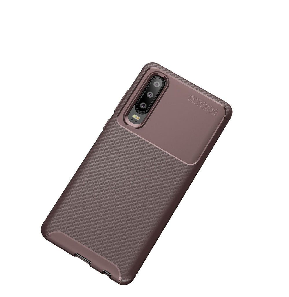P30 Slim Case Huawei Cell TPU Bumper Cushion Back Cover Brown