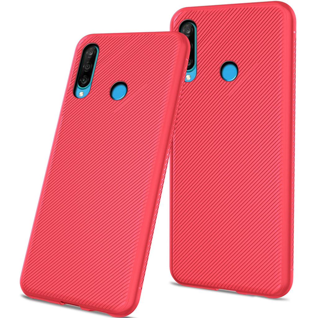 Huawei P30 Lite Phone Case Soft TPU Scratch Resistant Protective Anti-slip Phone Cover Red