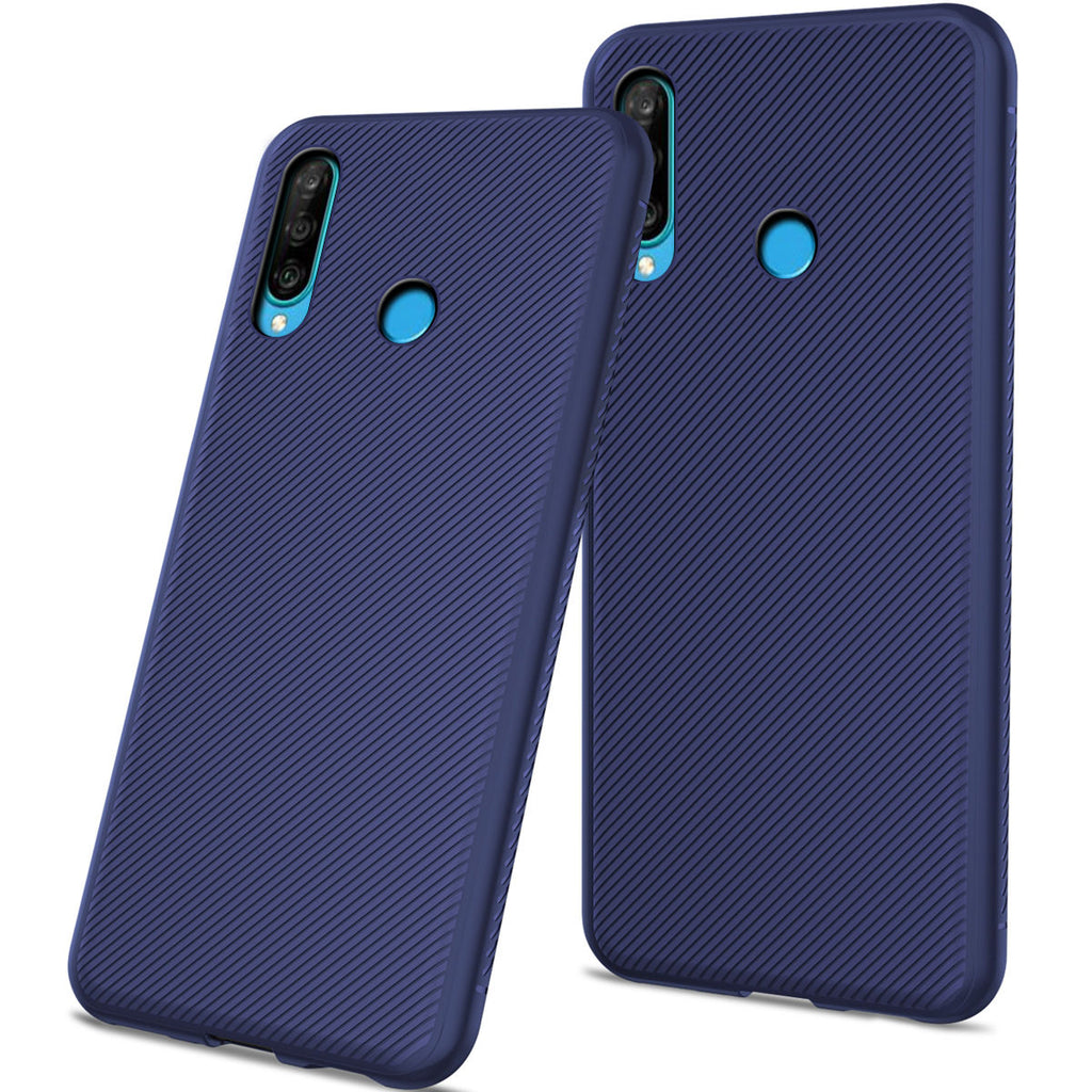 Huawei P30 Lite Case Phone Cover Soft TPU Protective Anti-slip Dark Blue