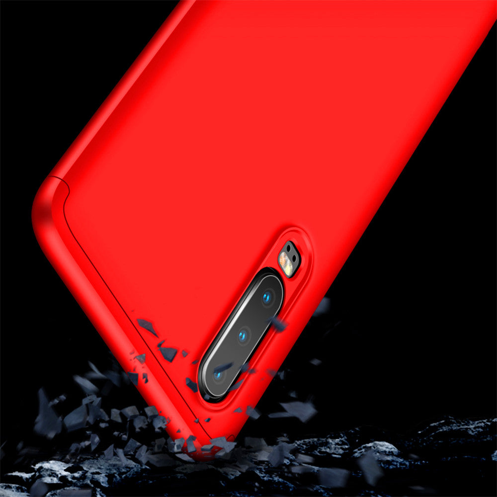 Huawei P30 Case Ultra-Thin Full Protection Detachable PC Hard Cover Red