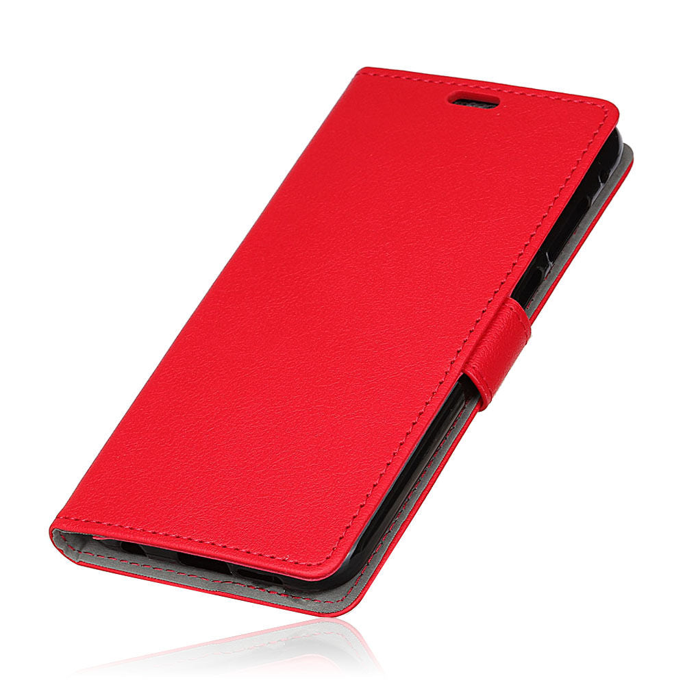 Huawei P30 PU Leather Flip Wallet Case with Card Slot Stand Red