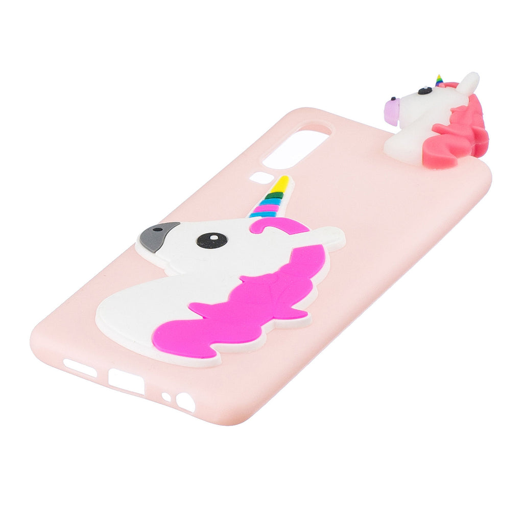 Huawei P30 3D Cartoon Animated Soft Case Shockproof Protective Cover Unicorn