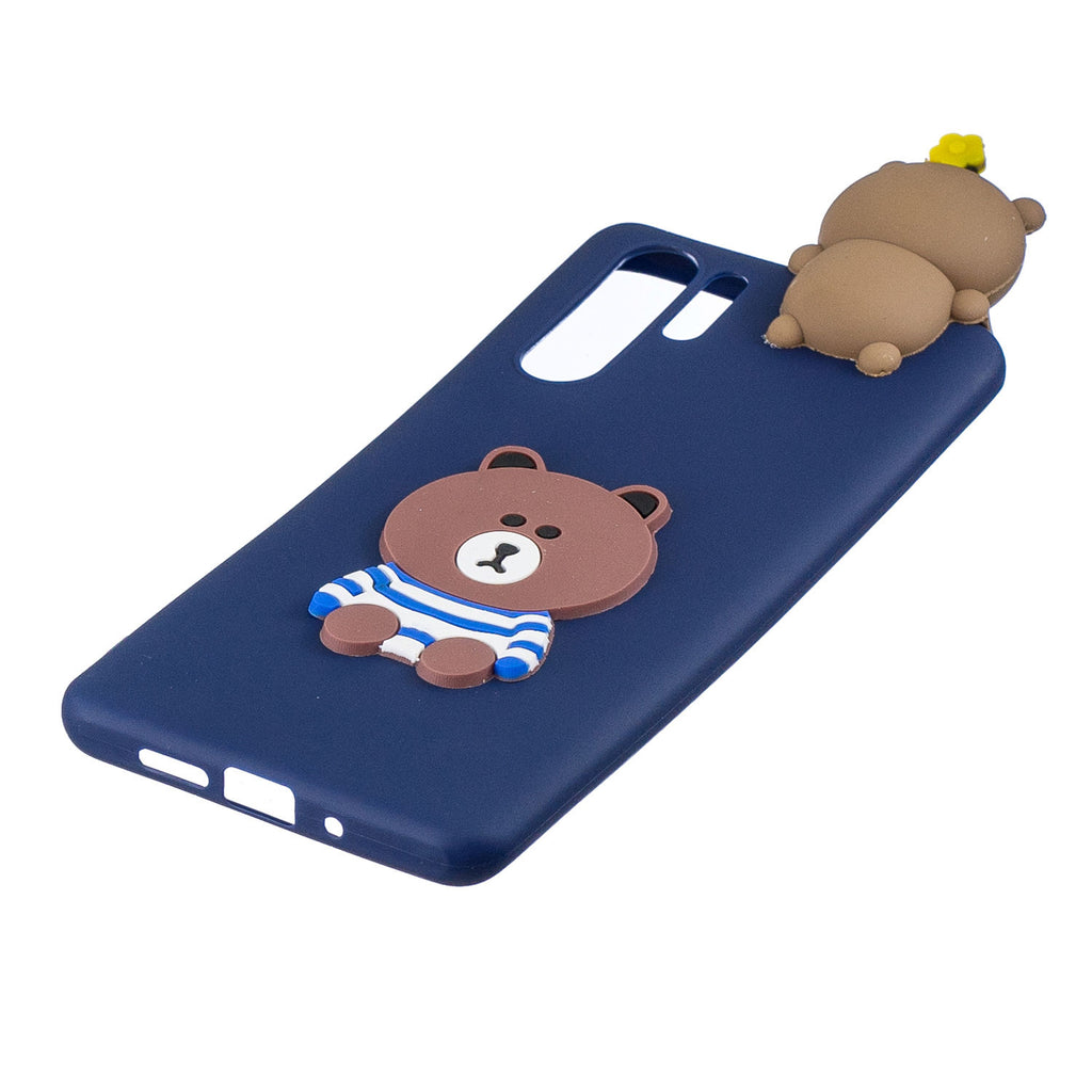 3D Cartonn Animal Protective Case Huawei P30 Pro Soft Cover Bear