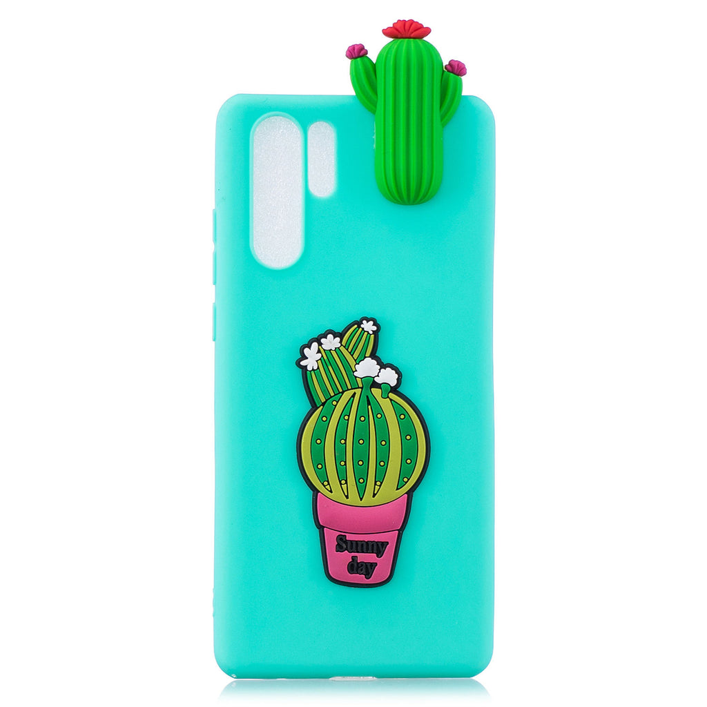 Huawei P30 Pro Soft 3D Cute Cartonn Phone Case for Grils Cactuses