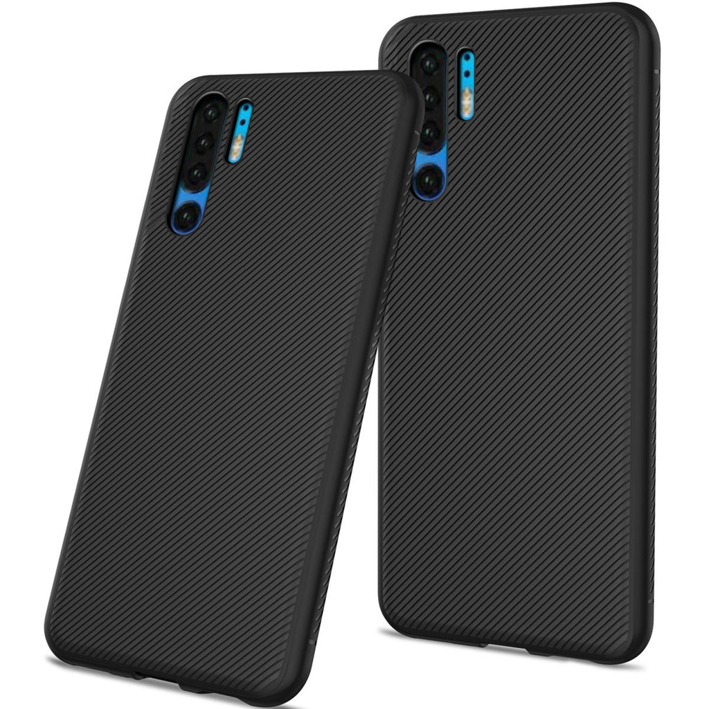 Huawei P30 Pro Case Fashion Soft TPU Scratch Resistant Protective Shell Anti-slip Phone Cover Black