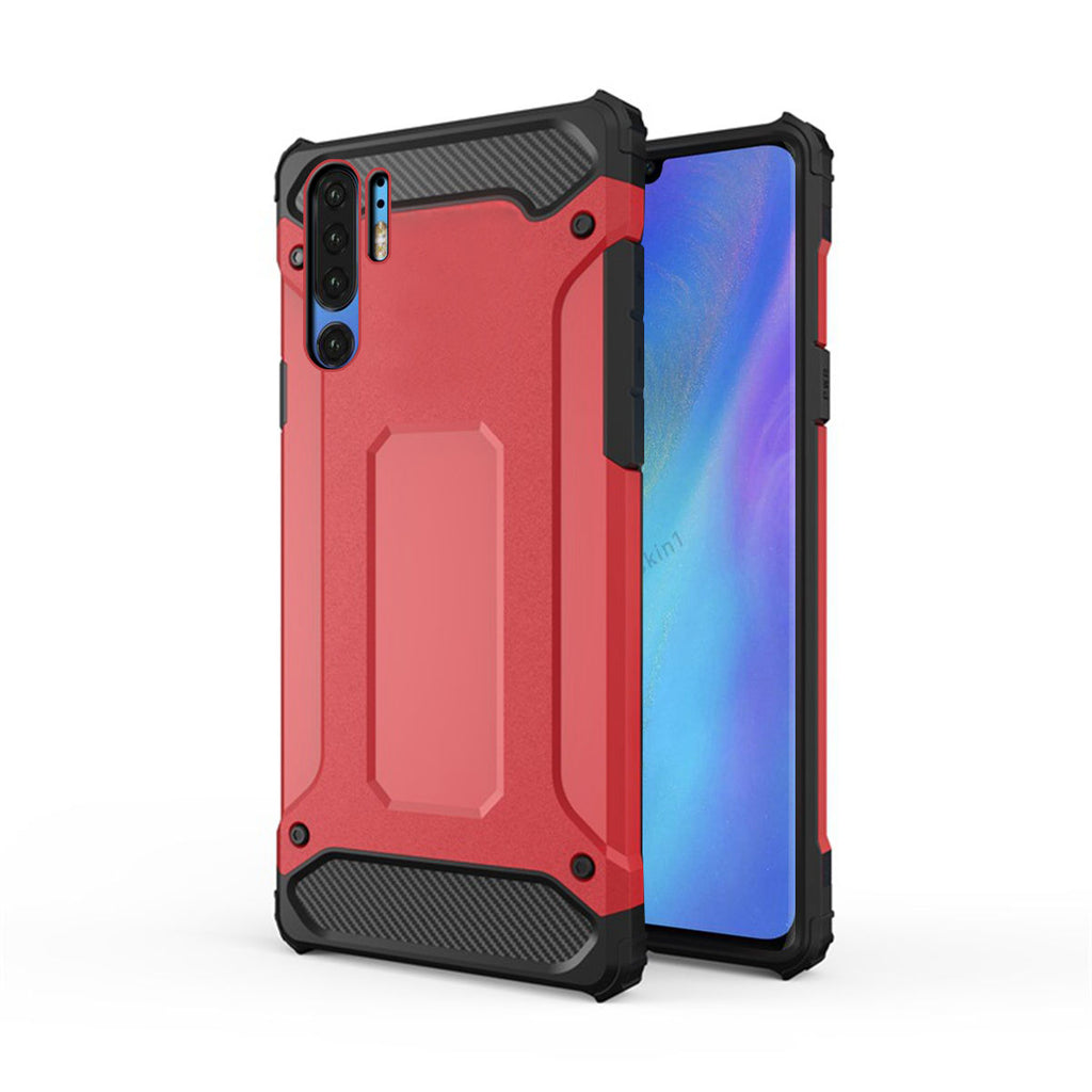Huawei P30 Pro Case Dustproof Shockproof Shell Rugged Cover Rose Red