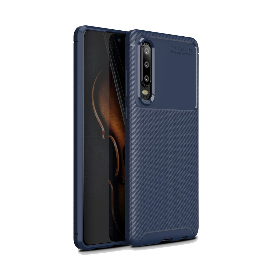 Huawei P30 Pro Soft TPU Bumper Case Shock Absorption Anti-Slip Cover Blue