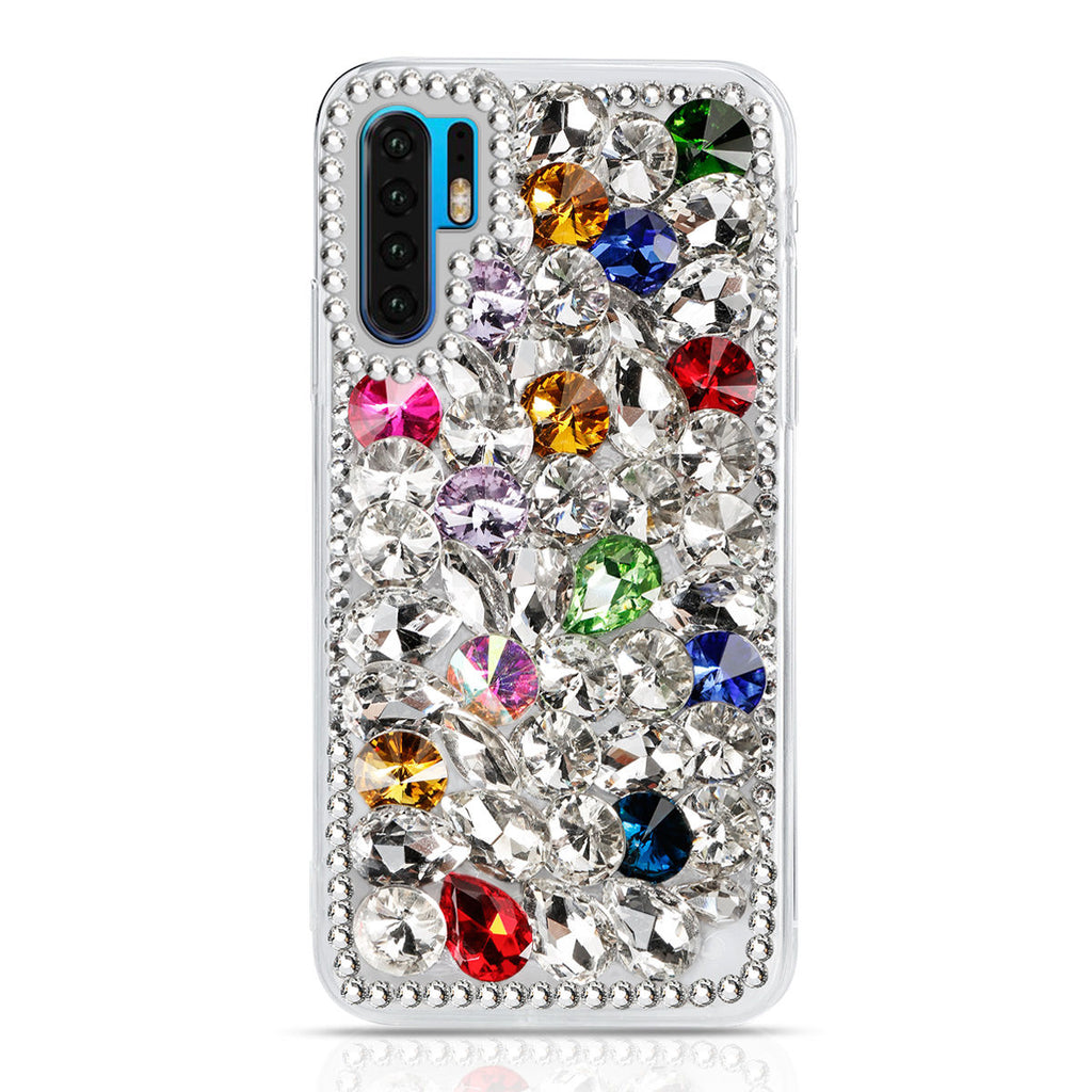 Huawei P30 Pro Case Glitter Bling Crystal Hybrid Soft TPU Bumper Shell Colorful
