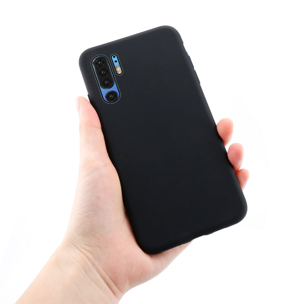 P30 Pro Protective Case TPU Bumper Drop Resistance Soft Cover Candy Black