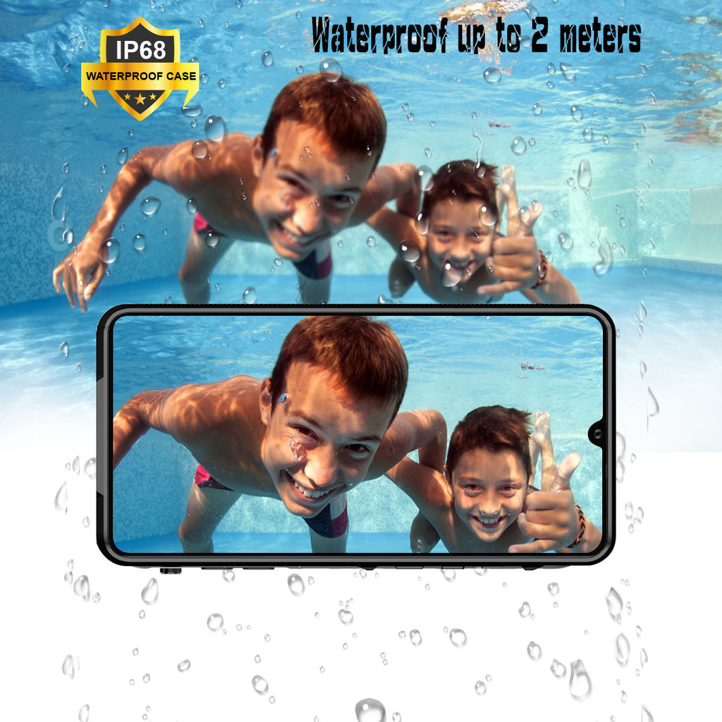 Huawei P30 Pro IP68 Waterproof Case with Built-in Screen Underwater Case Black