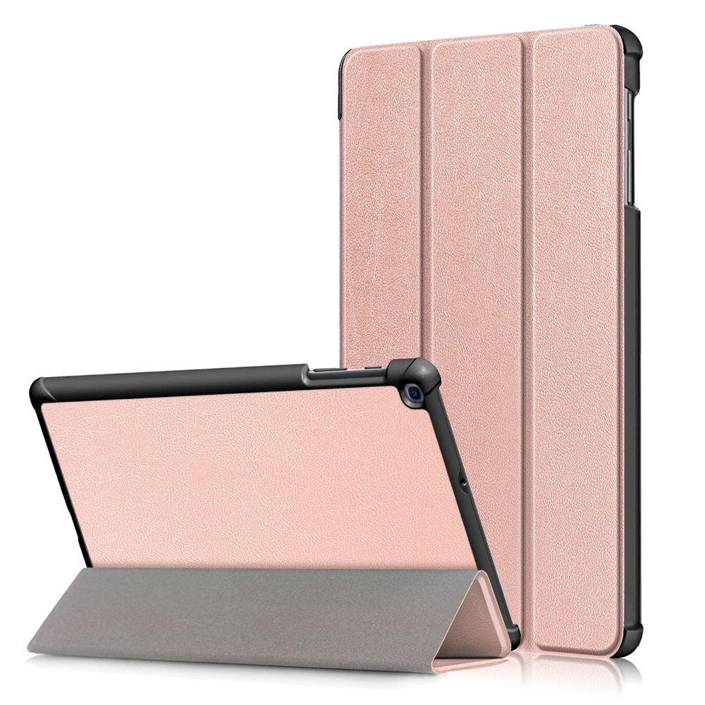 Leather Case for Galaxy Tab A 10.1 2019 SM-T510 with Auto Sleep/Wake for Women Rose Gold