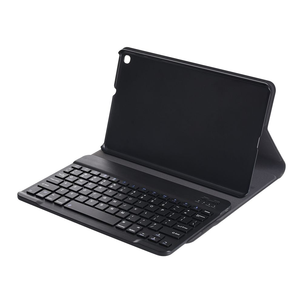 Bluetooth Keyboard Leather Case for Samsung Galaxy Tab A 10.1 2019 SM-T510 / T511 with Bluetooth Keyboard Black