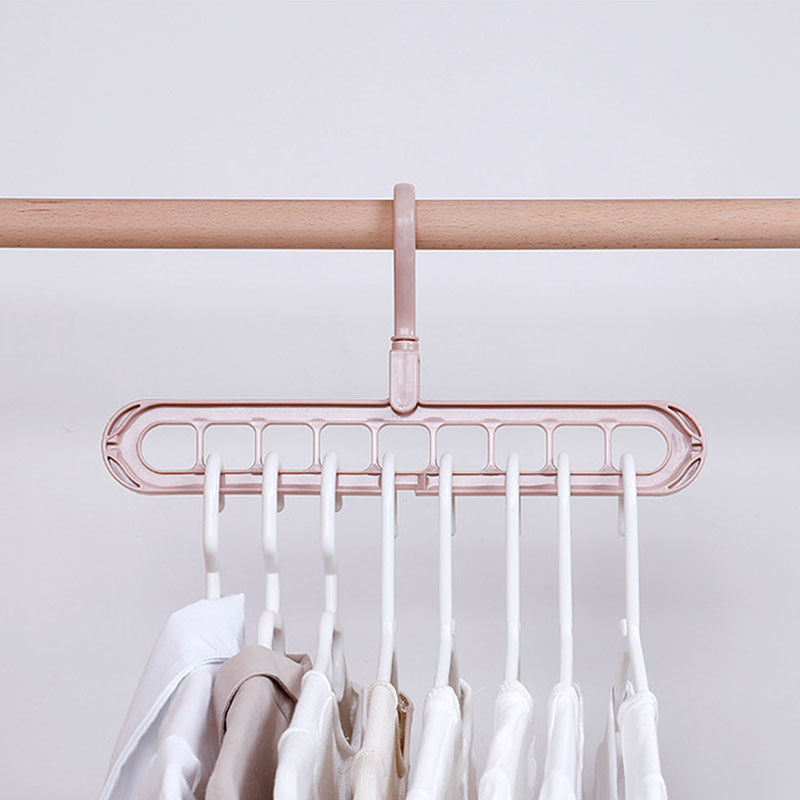 Space Saving Hangers Closet Clothes Hanger Non Slip for Wardrobe Apartment Pink 3Pcs