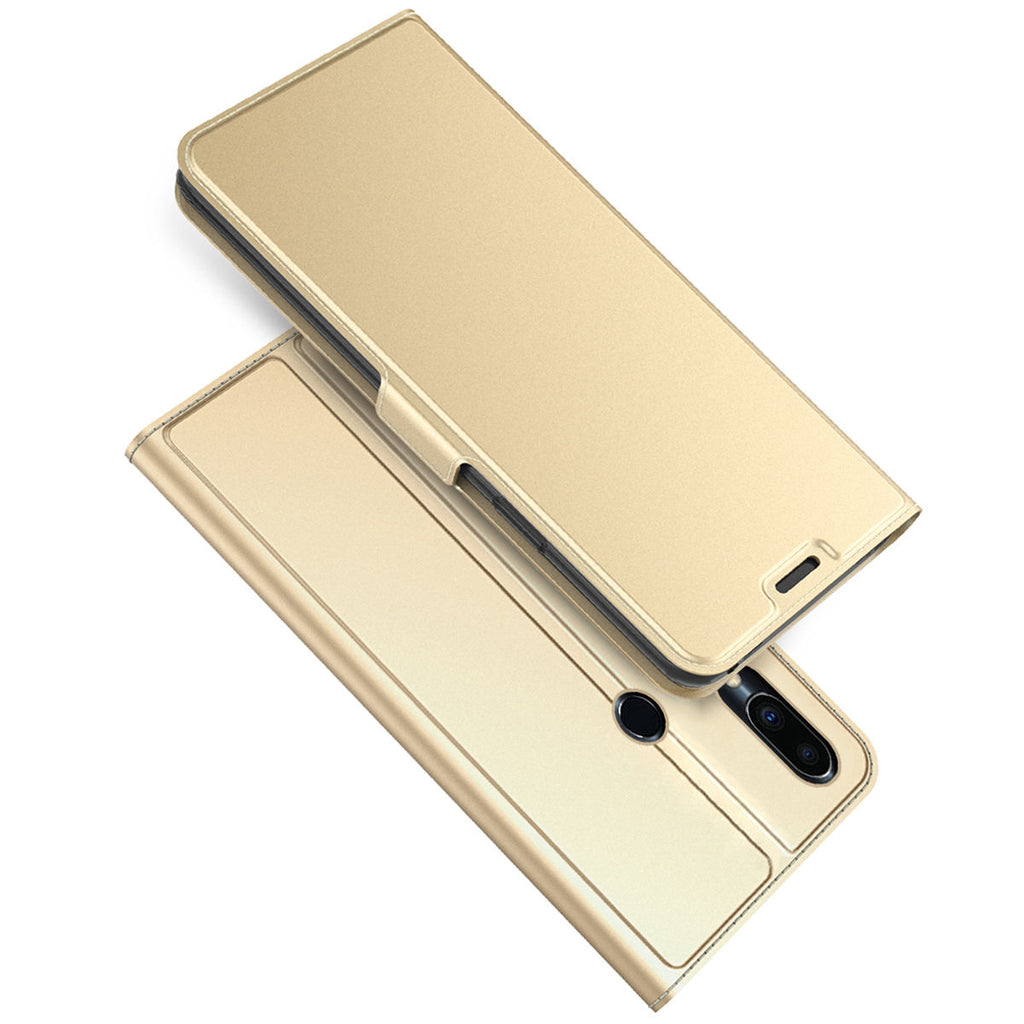 Meizu Note 9 Wallet Case with Card Holder Protective Flip Magnetic Closure Gold