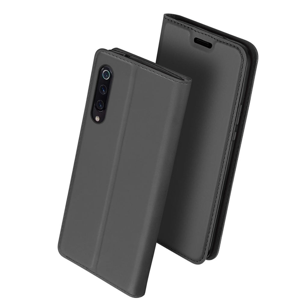 Wallet Case for Xiaomi Mi 9 Mi 9 Explore Shock-proof Protective Flip Cover with Card Slot Black